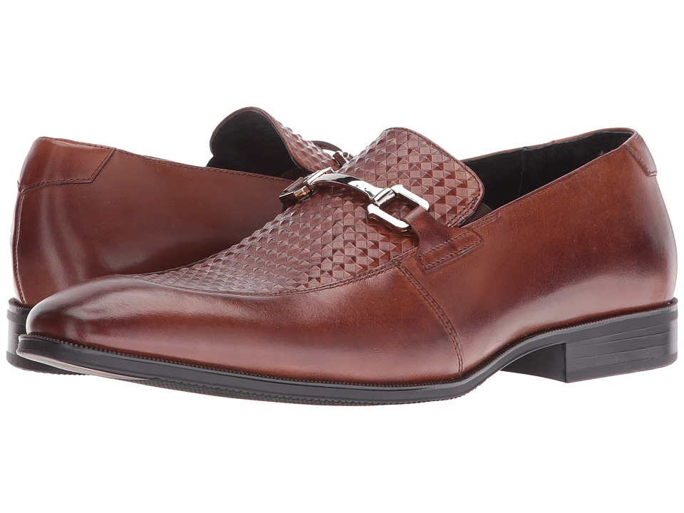 Stacy Adams Forsythe Moc Toe Bit Slip-On (Cognac) Men