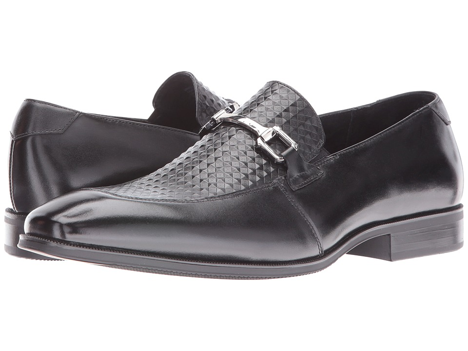 Stacy Adams Forsythe Moc Toe Bit Slip-On (Black) Men
