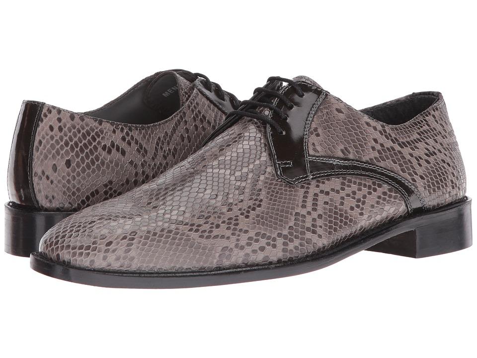 Stacy Adams - Rinaldi Leather Sole Plain Toe Oxford (Gray) Men's Plain Toe Shoes