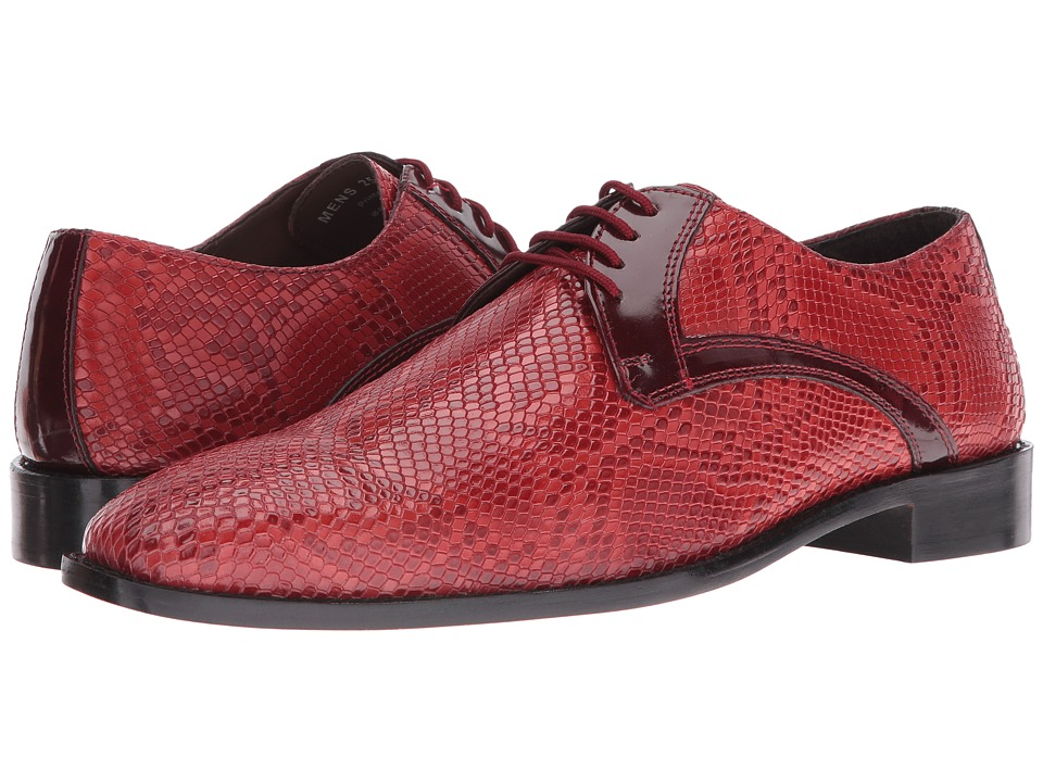 Stacy Adams Rinaldi Leather Sole Plain Toe Oxford (Red) Men
