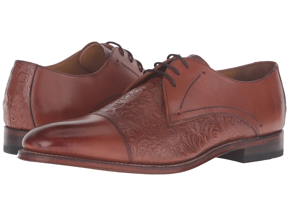 Stacy Adams - Madison II Cap Toe Lace (Cognac) Men's Lace Up Cap Toe Shoes