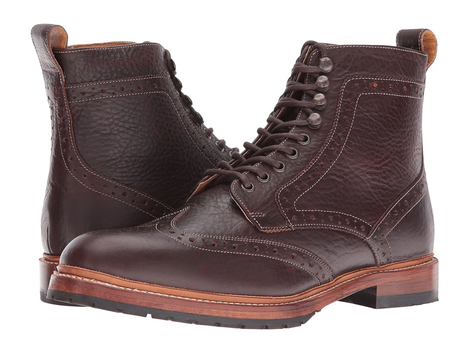 Stacy Adams Madison II Wingtip Lace Boot (Brown) Men