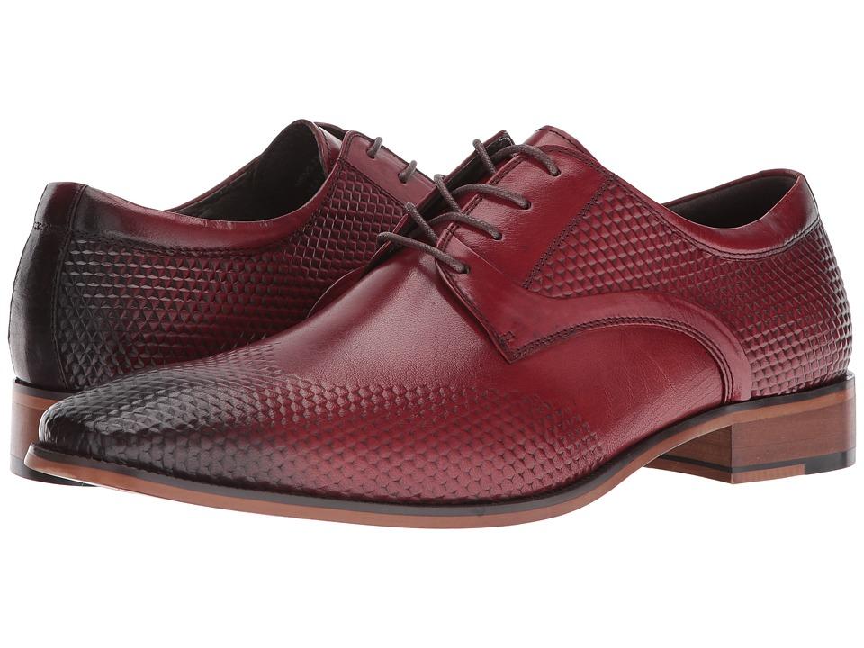 Stacy Adams - Kallan Plain Toe Lace (Red) Men's Plain Toe Shoes