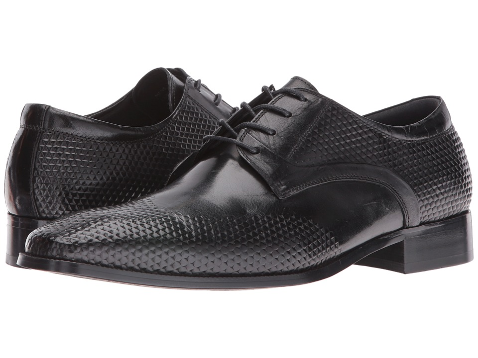 Stacy Adams - Kallan Plain Toe Lace (Black) Men's Plain Toe Shoes