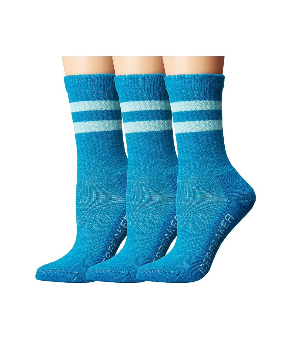 Icebreaker - Hike Light Crew 3-Pair (Toddler/Little Kid/Big Kid) (Cruise/Teardrop) Crew Cut Socks Shoes