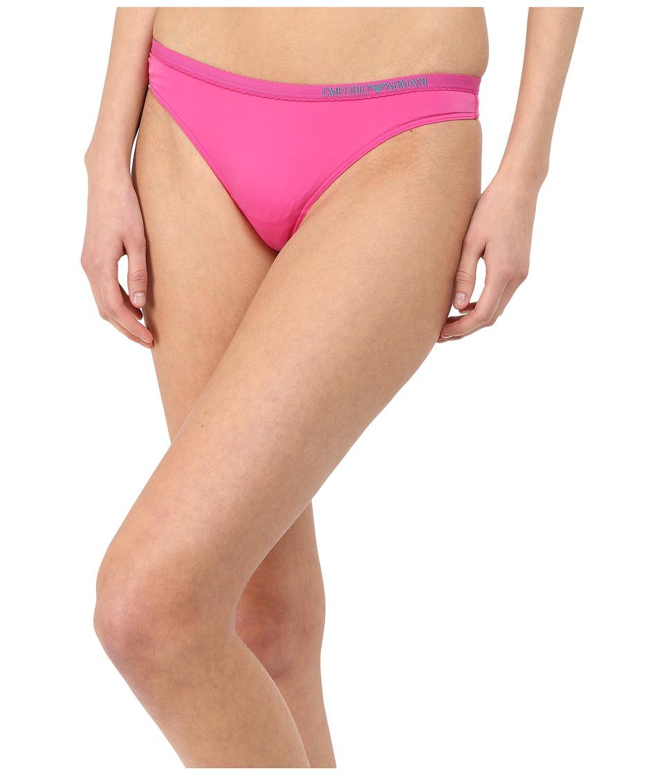 Emporio Armani - Visability Bi-Colour Microfiber Thong (Raspberry) Women's Underwear