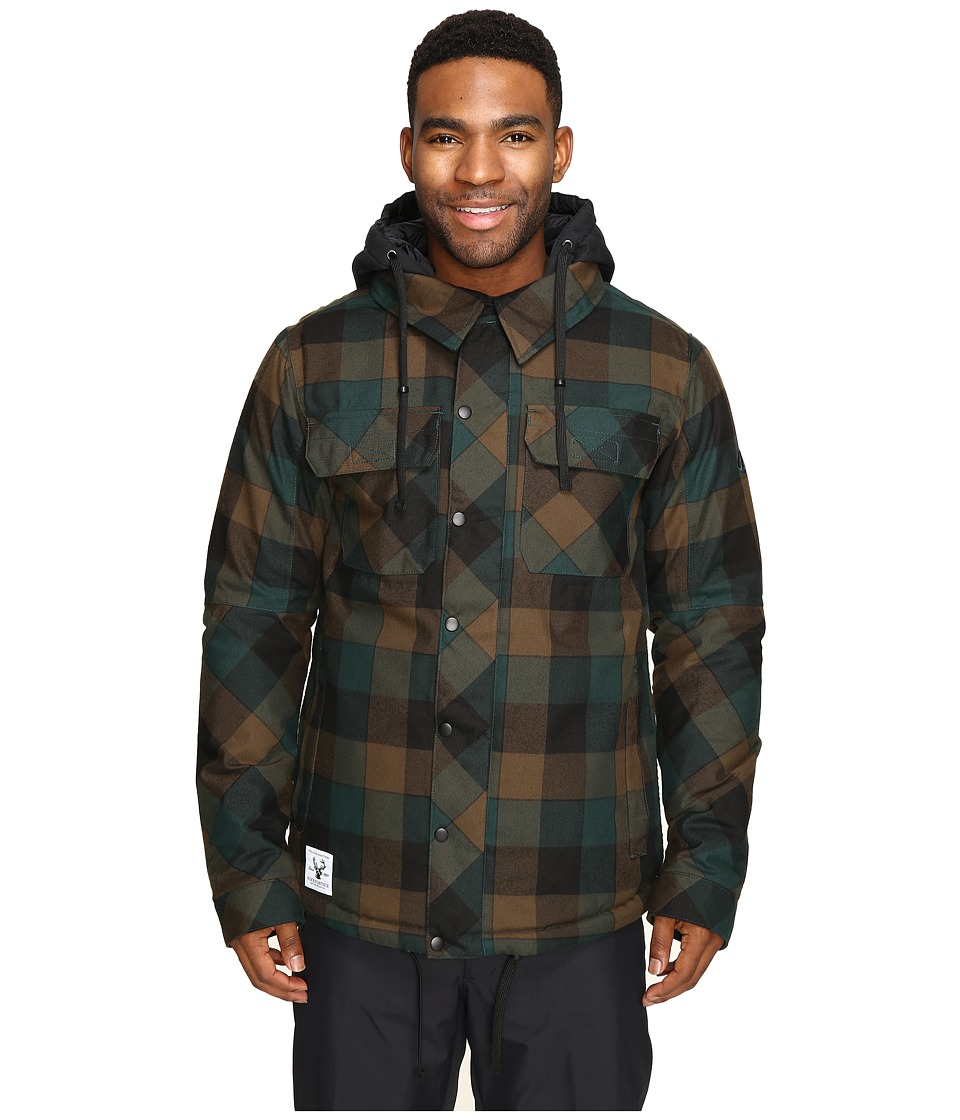 686 - Authentic Woodland Insulated Jacket (Black Jade Yarn-Dye Plaid) Men's Coat