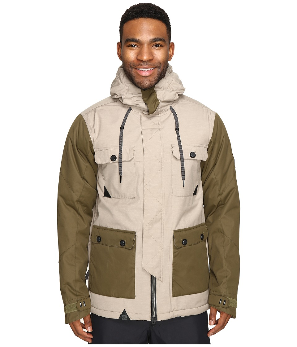 686 - Parklan Cult Insulated Jacket (Khaki Color Block) Men's Coat