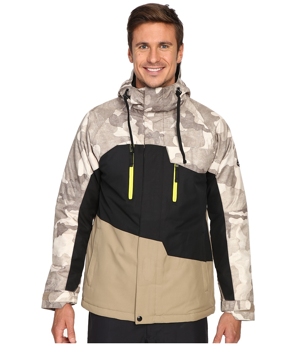 686 - Authentic Geo Insulated Jacket (Khaki Camo Color Block) Men's Coat