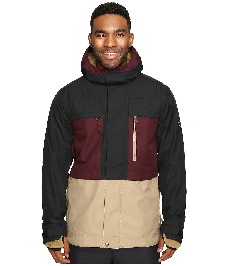 686 - Authentic Smarty Form Jacket (Black Ruby Color Block) Men's Coat