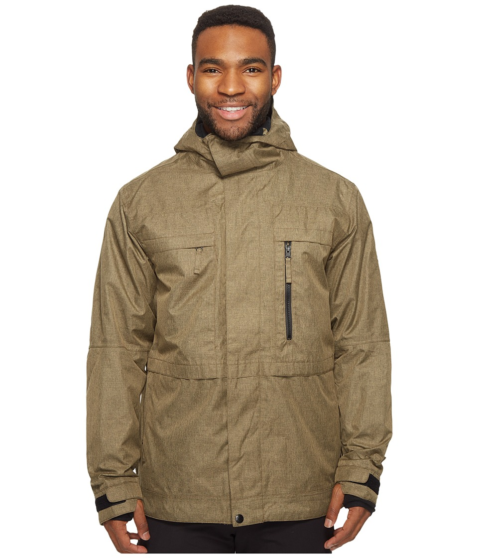 686 - Authentic Smarty Form Jacket (Khaki Melange) Men's Coat