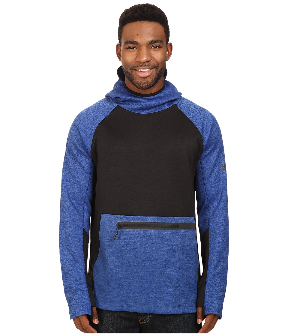 686 - GLCR Exploration Pullover Tech Fleece (Cobalt Heather Color Block) Men's Fleece
