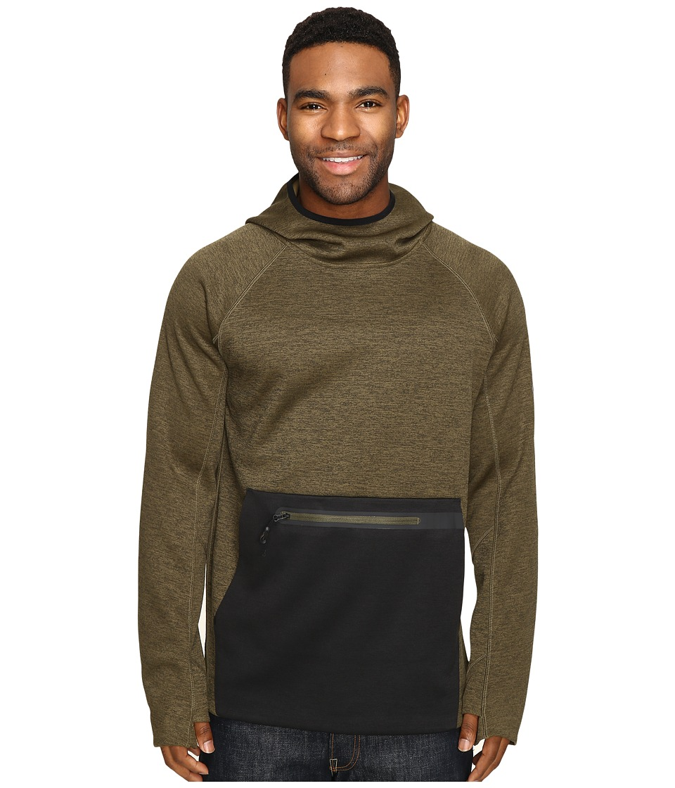 686 - GLCR Exploration Pullover Tech Fleece (Olive Heather) Men's Fleece