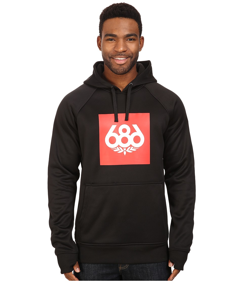 686 - Knockout Bonded Fleece Pullover (Black) Men's Fleece
