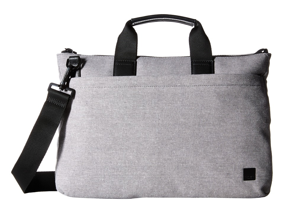 KNOMO London - Oxberry Laptop Briefcase (Grey) Briefcase Bags