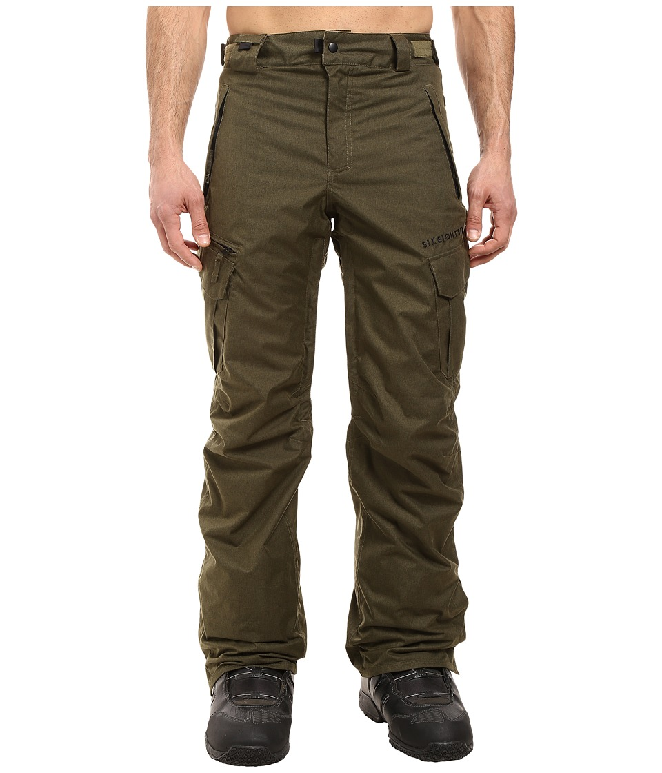 686 - Authentic Smarty Cargo Pants (Olive Melange) Men's Casual Pants