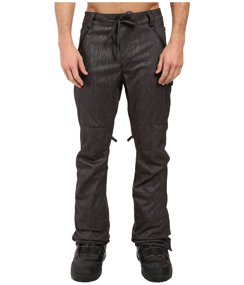 686 - Parklan Triple Black Pants (Black Denim) Men's Casual Pants