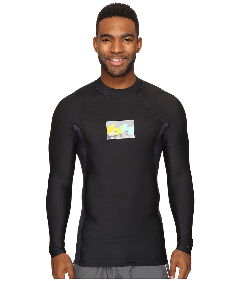 Billabong - Iconic Long Sleeve Rashguard (Black) Men's Swimwear