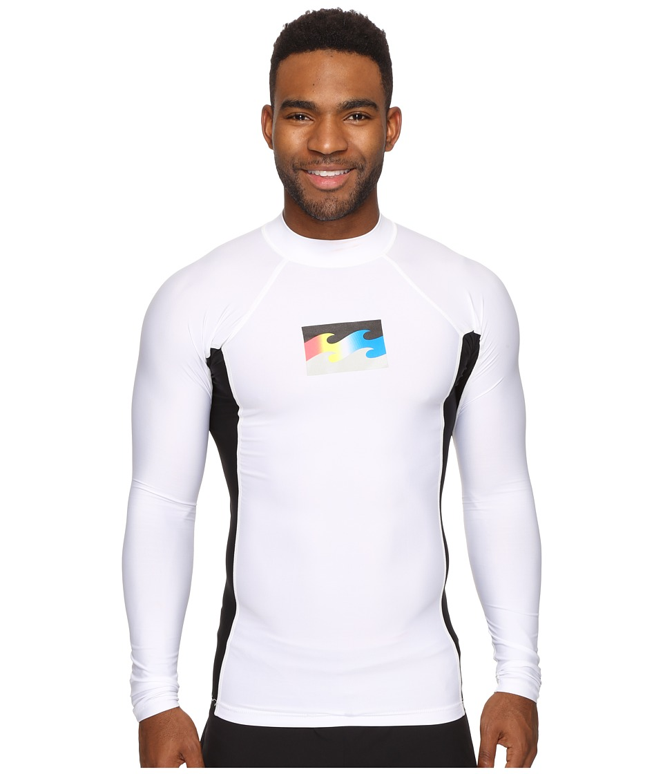 Billabong - Iconic Long Sleeve Rashguard (White) Men's Swimwear