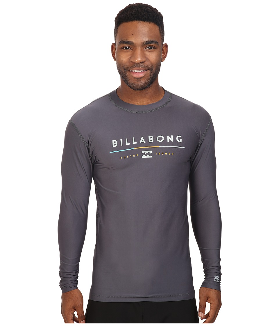 Billabong - Tri Unity Long Sleeve Rashguard (Charcoal) Men's Swimwear