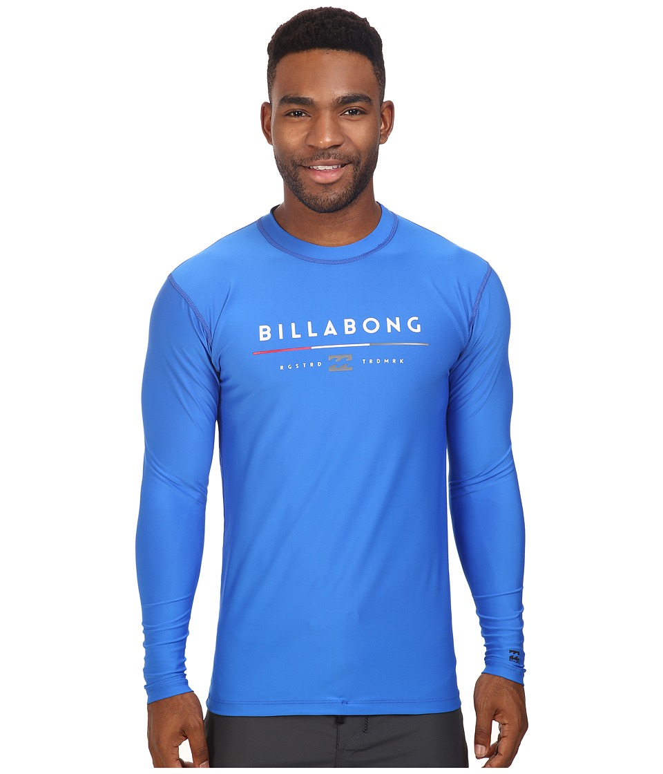 Billabong - Tri Unity Long Sleeve Rashguard (Royal) Men's Swimwear