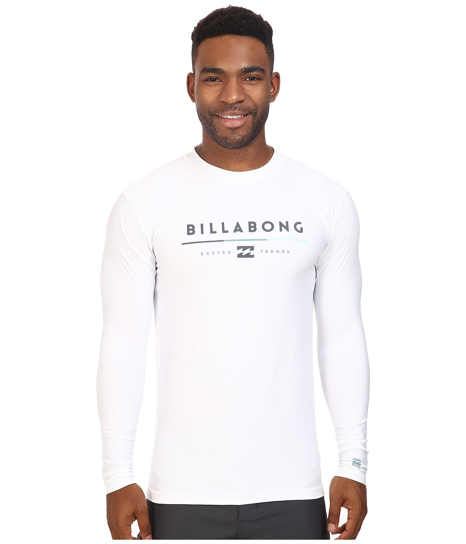 Billabong - Tri Unity Long Sleeve Rashguard (White) Men's Swimwear