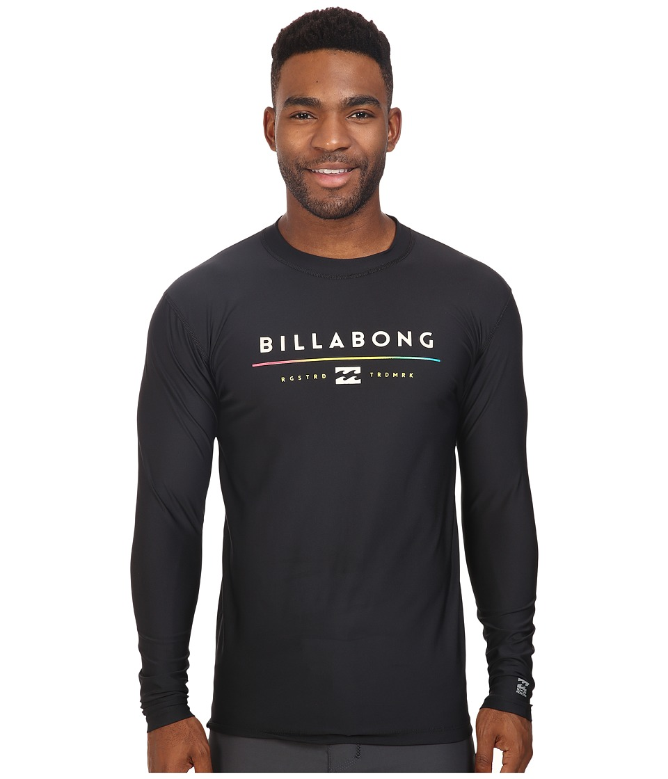 Billabong - Tri Unity Long Sleeve Rashguard (Black 1) Men's Swimwear