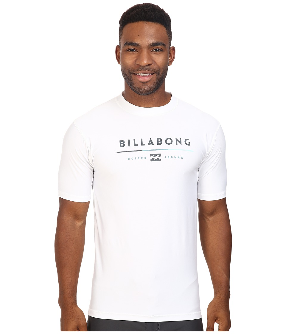 Billabong - Tri Unity Short Sleeve Rashguard (White) Men's Swimwear