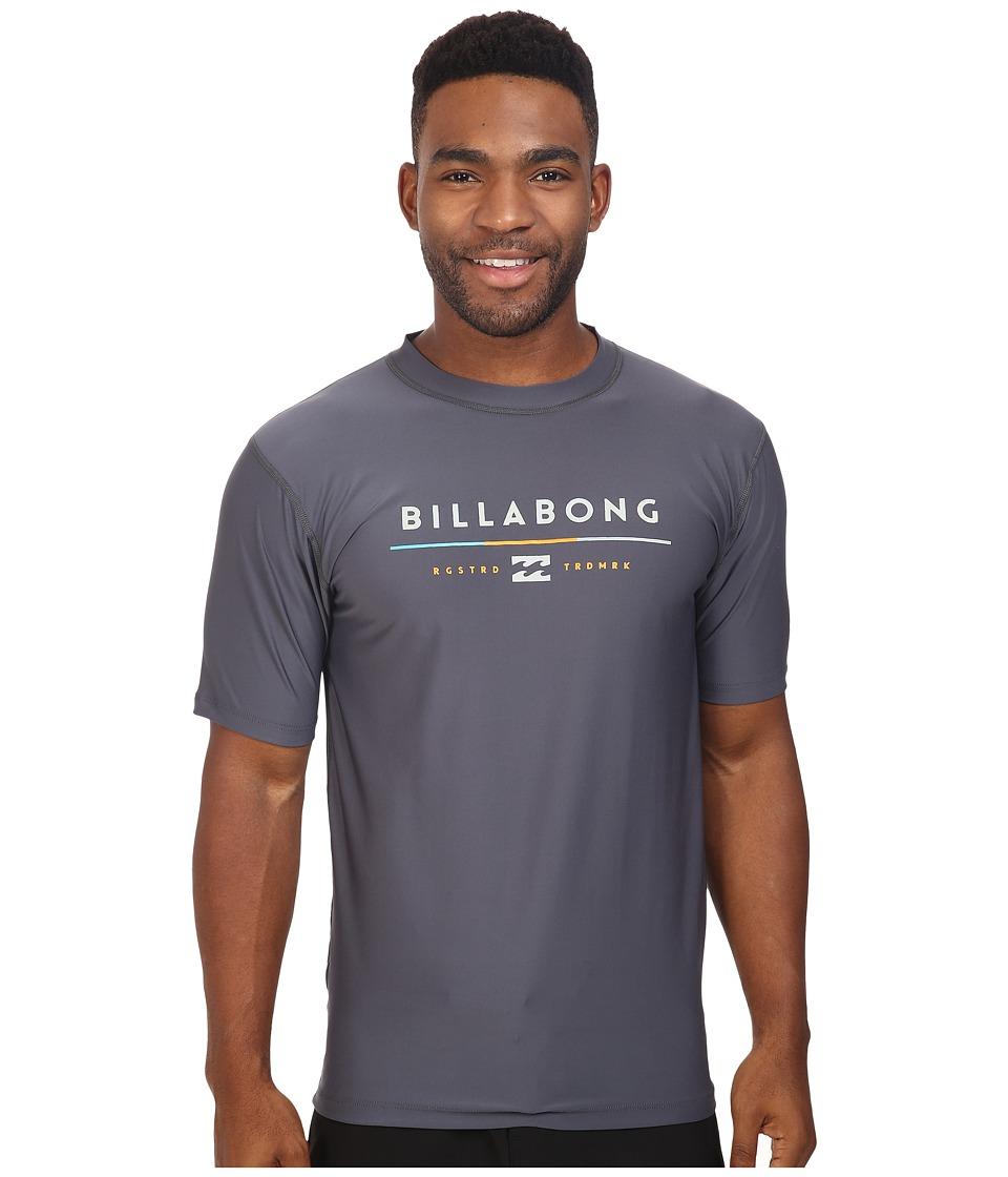 Billabong - Tri Unity Short Sleeve Rashguard (Charcoal) Men's Swimwear