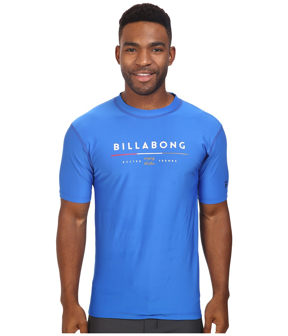 Billabong - Tri Unity Short Sleeve Rashguard (Royal) Men's Swimwear