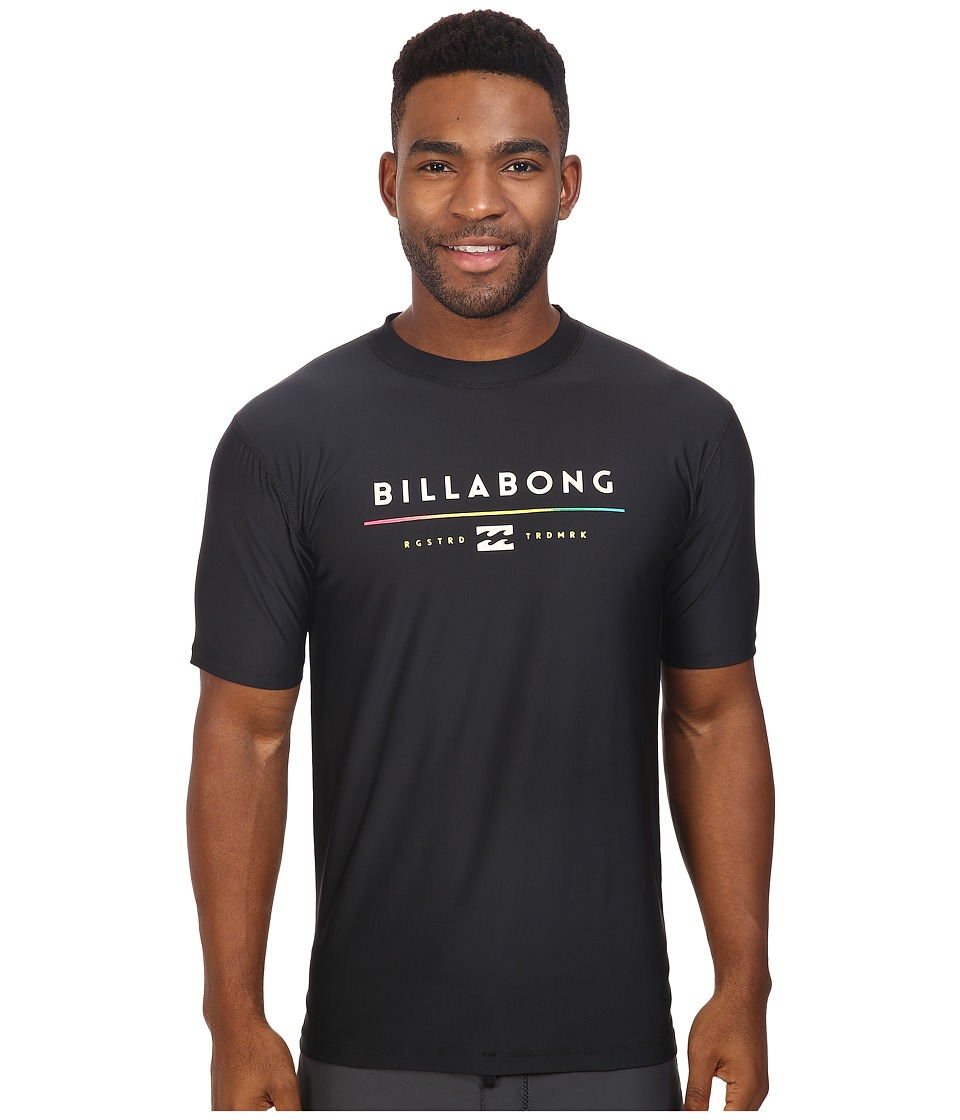 Billabong - Tri Unity Short Sleeve Rashguard (Black 1) Men's Swimwear
