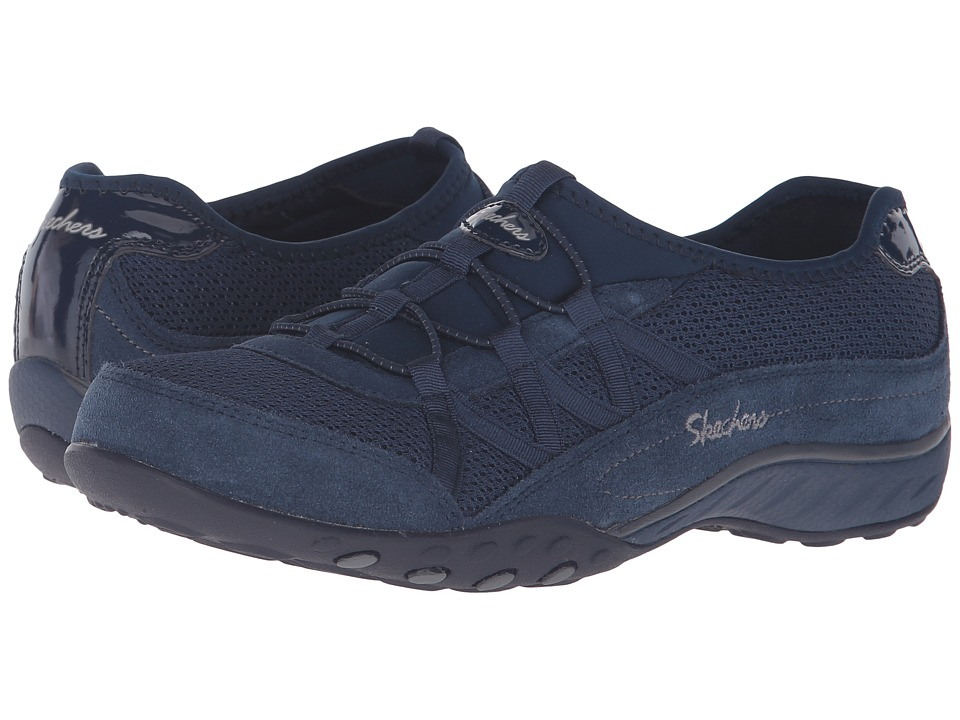 SKECHERS - Breathe Easy - Relaxation (Navy) Women's Lace up casual Shoes