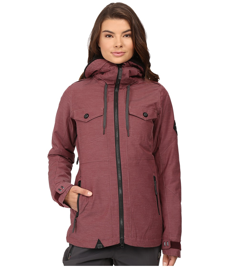 686 - Parklan Fortune Insulated Jacket (Black Ruby Heather) Women's Coat