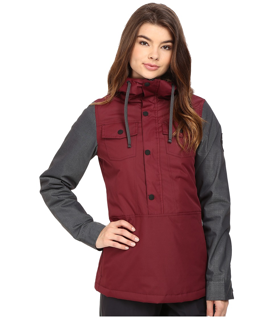 686 - Parklan Dusk Insulated Anorak (Black Ruby) Women's Coat