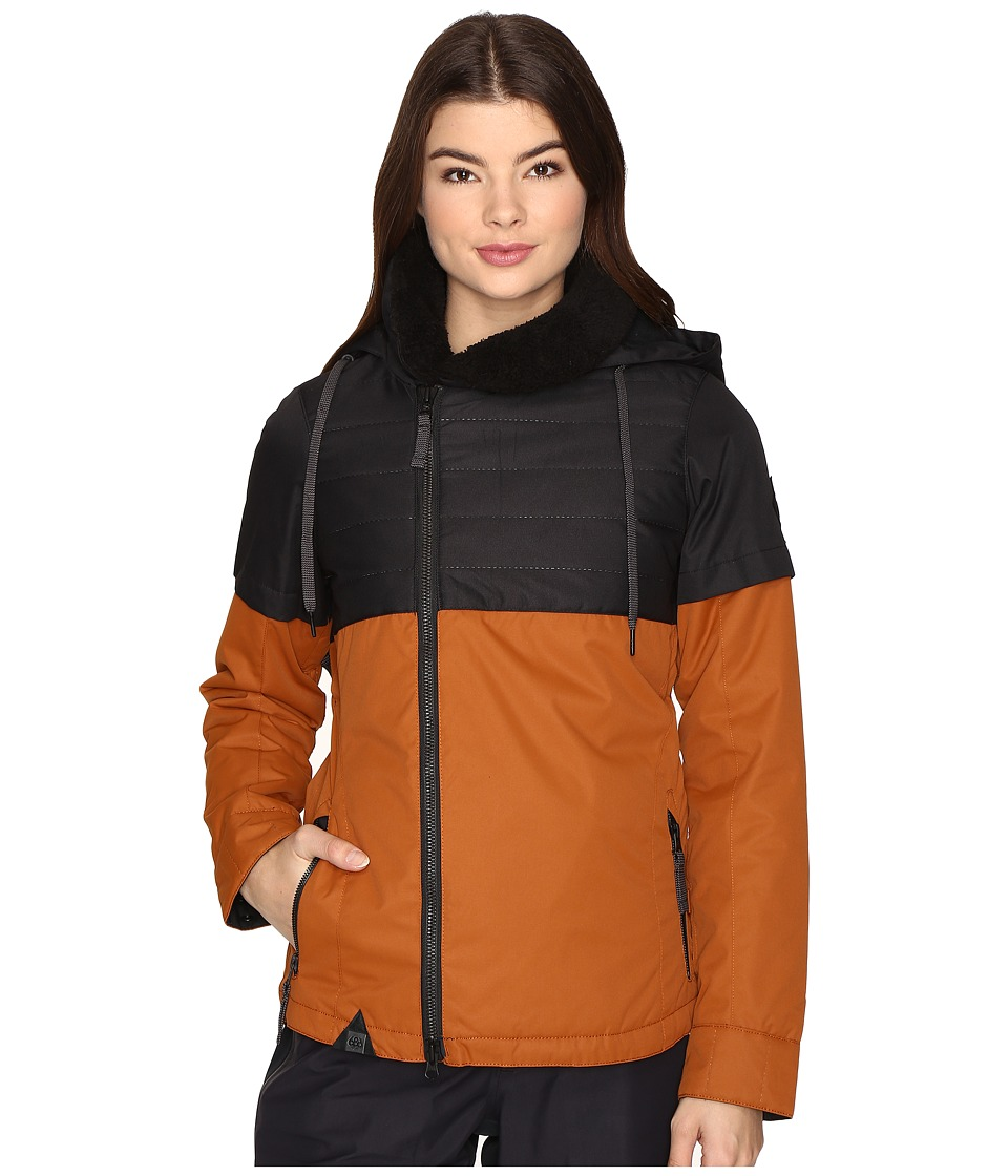 686 - Parklan Immortal Insulated Jacket (Cognac Color Block) Women's Coat