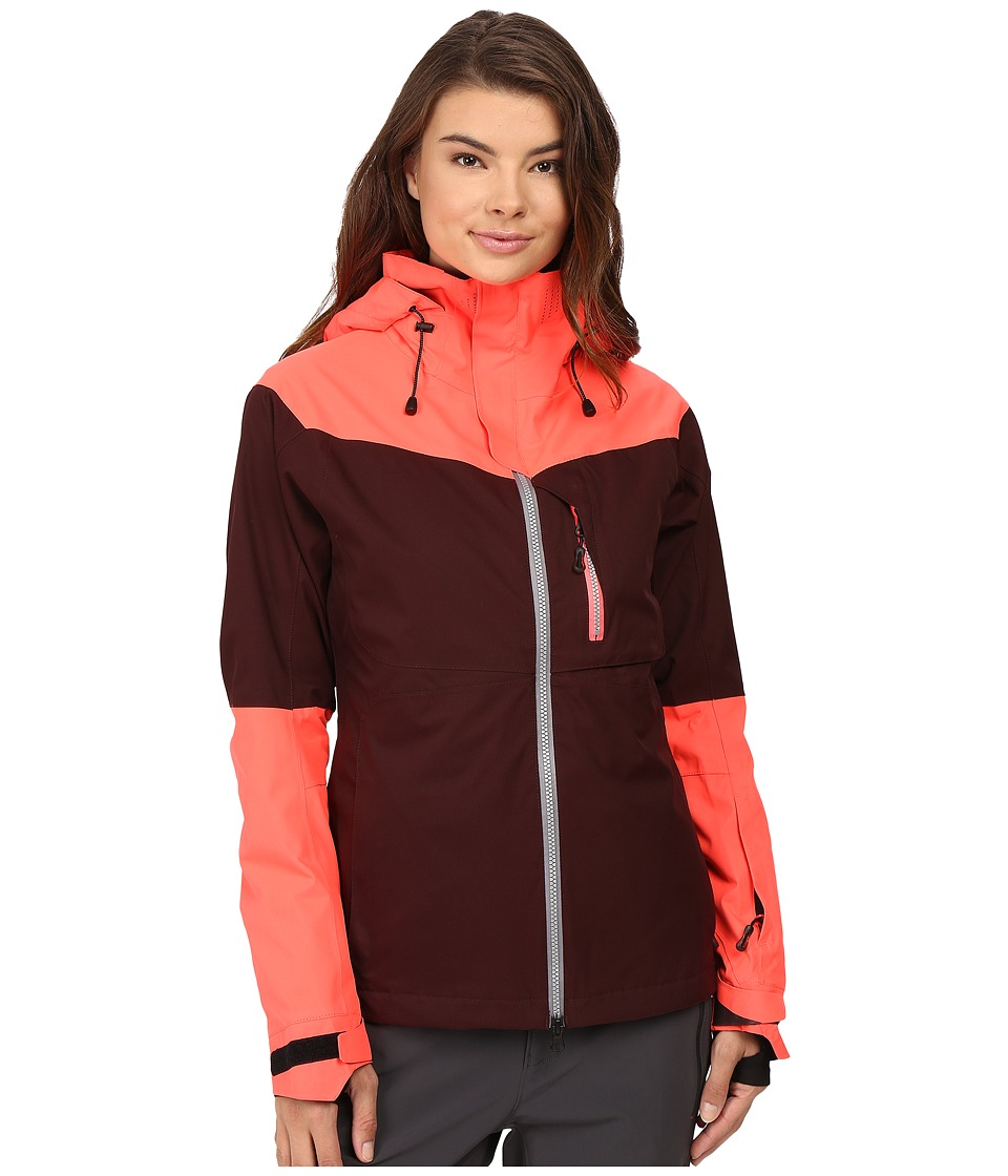 686 - GLCR Soltice Thermagraph Jacket (Black Ruby Color Block) Women's Coat