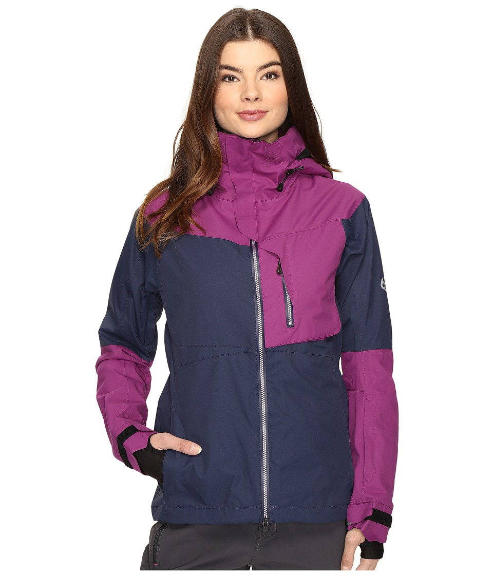 686 - GLCR Soltice Thermagraph Jacket (Midnight Blue Color Block) Women's Coat
