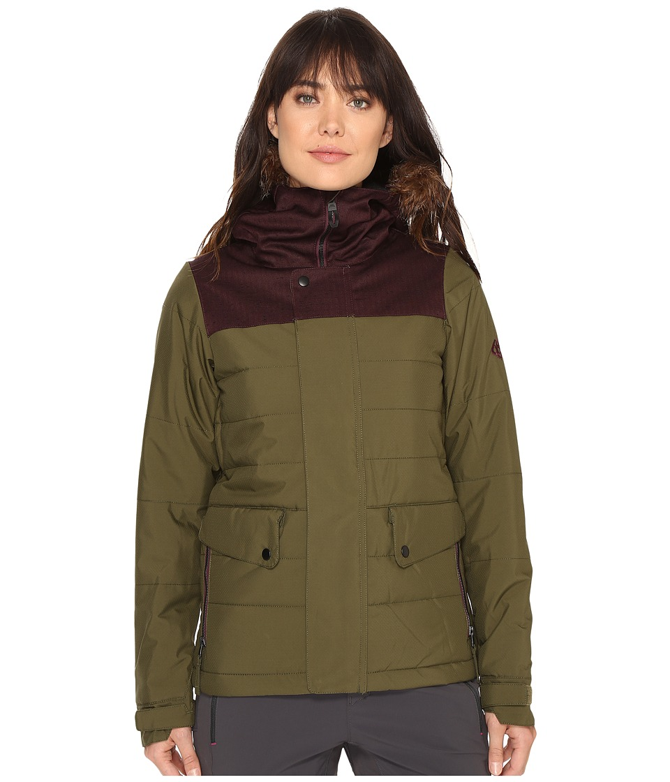 686 - Authentic Runway Insulated Jacket (Olive Color Block) Women's Jacket