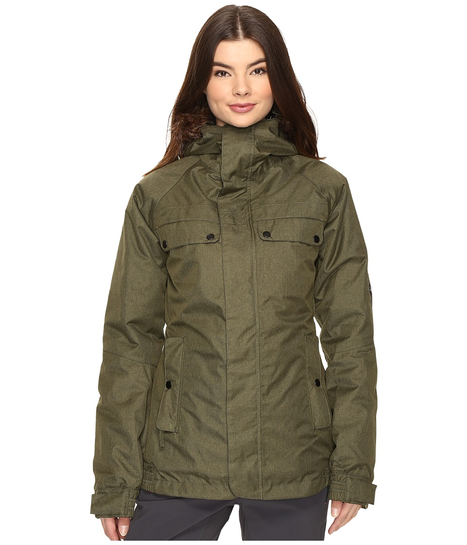 686 - Authentic Bae Jacket (Olive Melange) Women's Coat