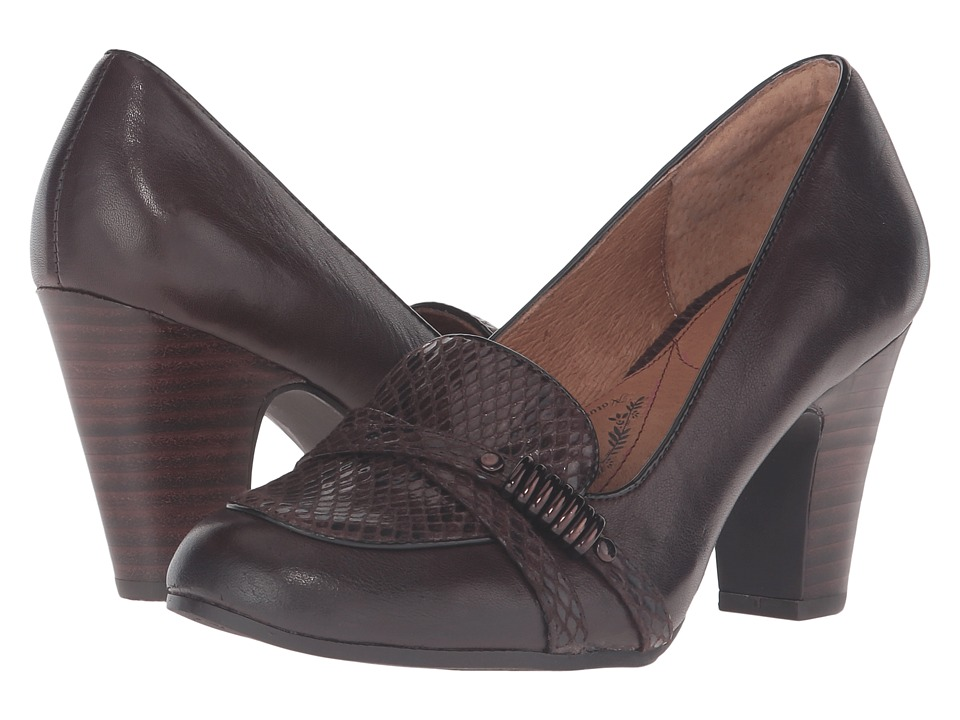 Sofft - Montara (Coffee Gartes/Snake Print Plug) High Heels