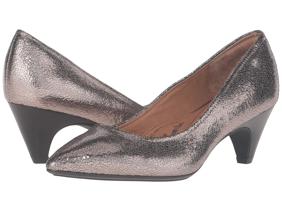Sofft - Altessa II (Anthracite Cracked Metal Kid Suede) High Heels