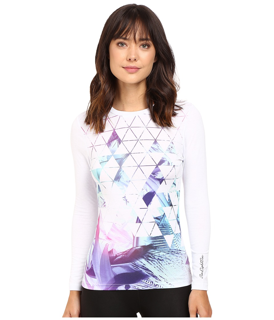 686 - Tech Long Sleeve Shirt (Geo Palm) Women's Clothing