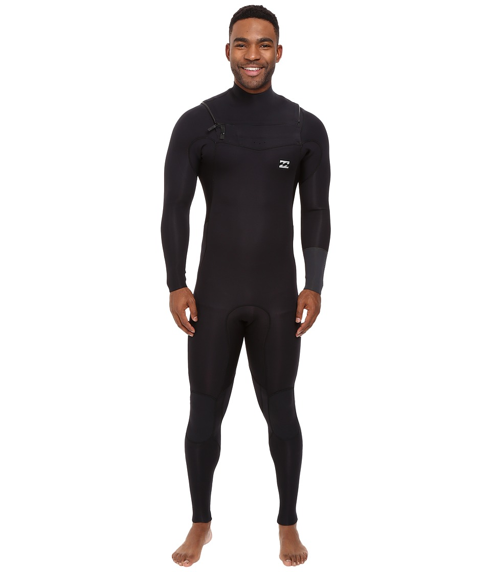 Billabong - 3/2 Revolution Tribong Long Sleeve Chest Zip Wetsuit (Black) Men's Wetsuits One Piece