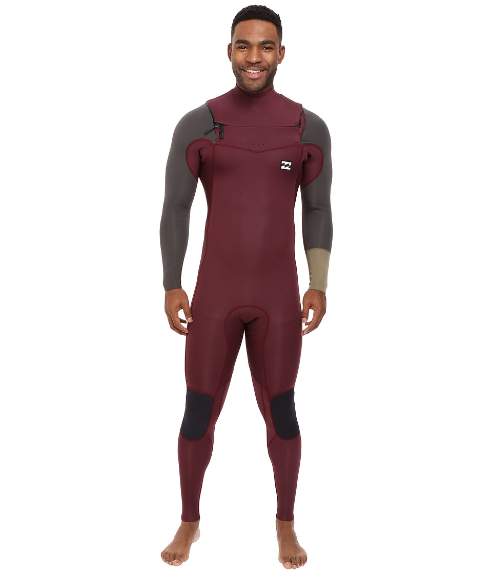 Billabong - 3/2 Revolution Tribong Long Sleeve Chest Zip Wetsuit (Blood) Men's Wetsuits One Piece