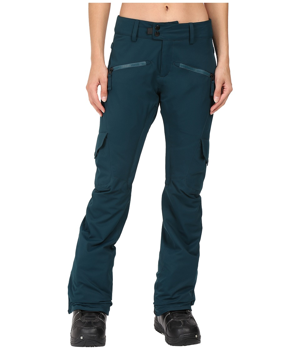 686 - Authentic Mistress Insulated Cargo Pants (Black Jade) Women's Casual Pants
