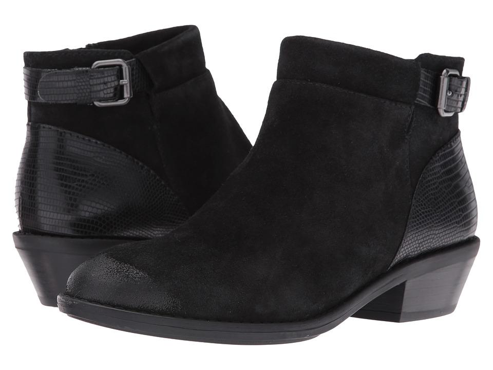 Sofft - Vasanti (Black Velour Cow Suede/Lizard Print) Women's Boots