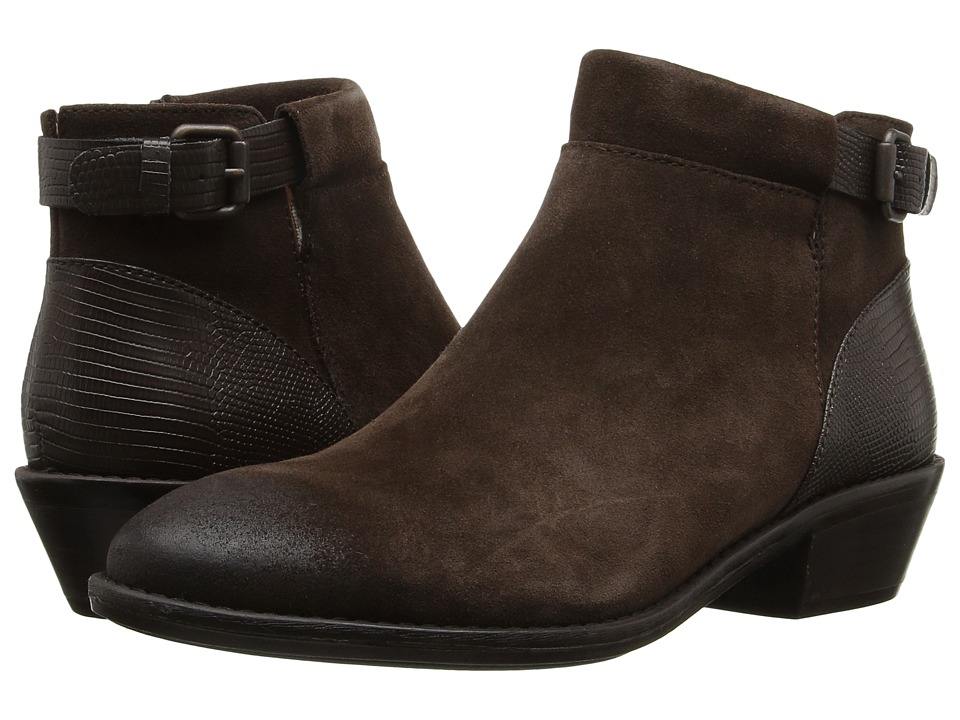 Sofft - Vasanti (Coffee Velour Cow Suede/Lizard Print) Women's Boots