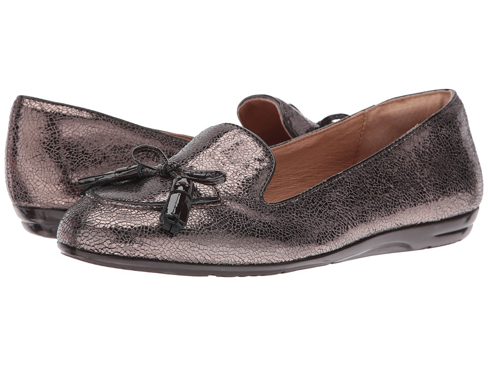 Sofft - Novato (Copper/Coffee Cracked Metal Kid Suede/Patent) Women's Flat Shoes
