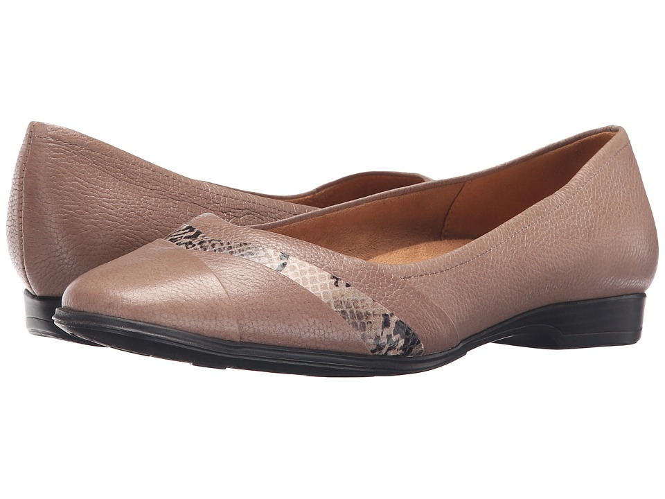 Naturalizer Jaye (Dover Taupe Leather/Printed Snake) Women