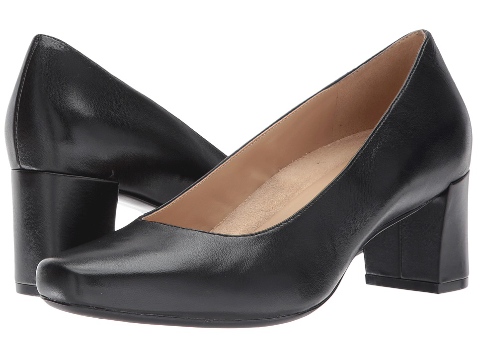 Naturalizer - Keela (Black Leather) Women's 1-2 inch heel Shoes